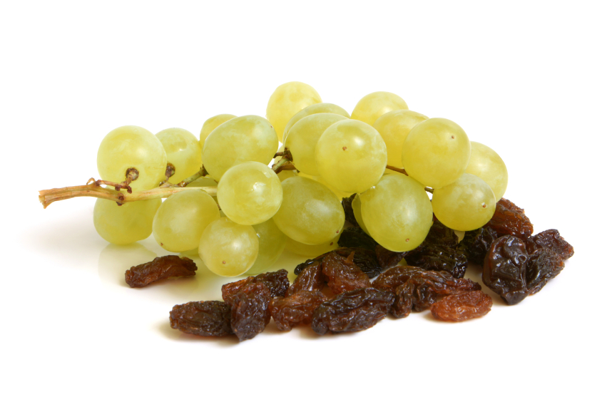 uvas e passas